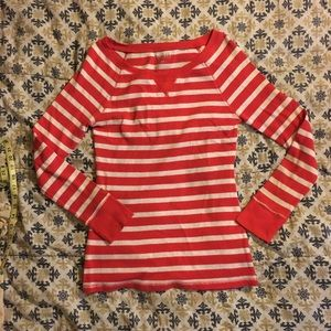Old Navy Red/White Striped Long Sleeve